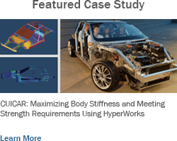 Body-In-White Design for a Six-Passenger Sports Car Architecture: Maximizing Body Stiffness and Meeting Strength Requirements Using HyperWorks