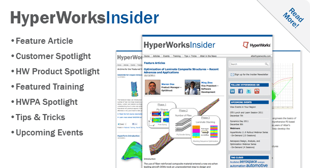 Check out the HyperWorks Insider