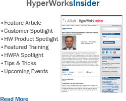 Check out the HyperWorks Monthly Newsletter