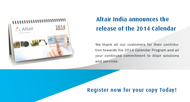 Altair India Calendar 2014: Order your copy today!