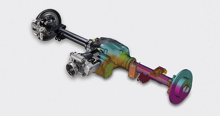 ECS is the axle competence center of MAGNA (picture with courtesy of VW)