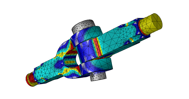 Detailed stress analysis of 3D joints and complex assemblies through efficient contact