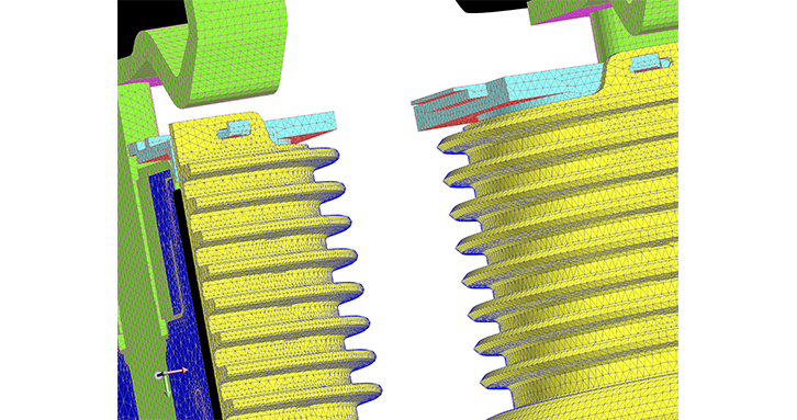 SimLab® and HyperMesh® capabilities for CAD geometry simplification and meshing accelerates Flux explorations of complex geometries
