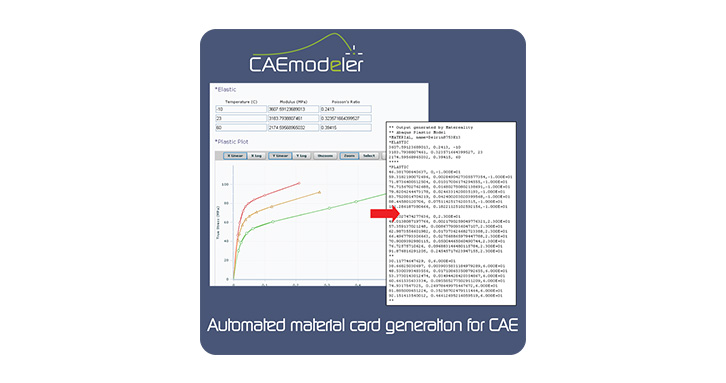 Browser-based apps automate generation of material cards for CAE, with edit and version capabilities