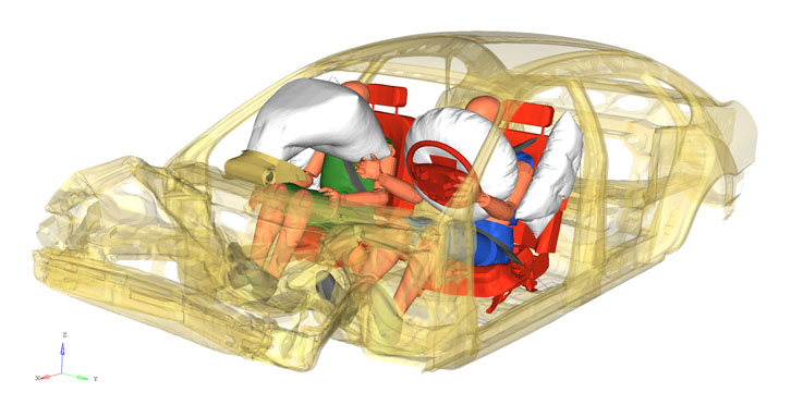 Enhanced capability for automatic airbag volume meshing