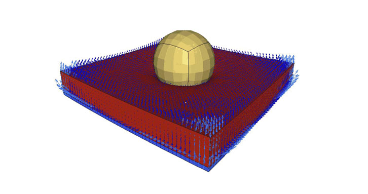 Simulation considering air motion inside of the foam cell with Material Law 77
