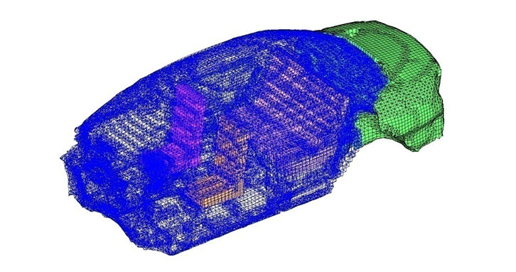 Cavity meshing for NVH simulations