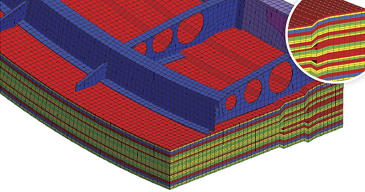 Ply-based composites pre-processing and visualization