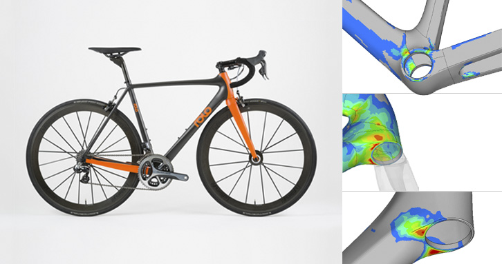 Development of a high-performance composites bike frame (Courtesy of Rolo Bikes)