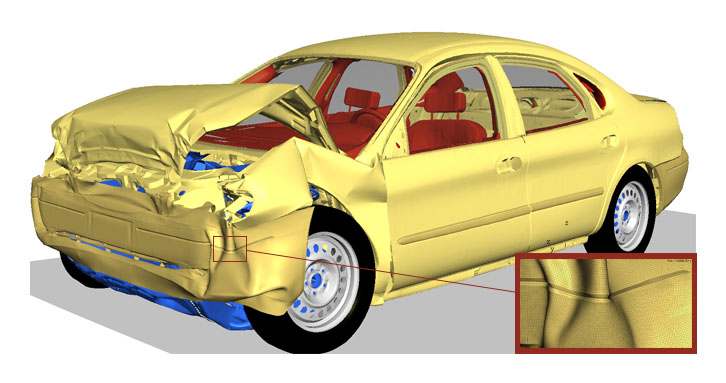 Shortened Cars >> HyperWorks for Crash, Safety and Impact Analysis