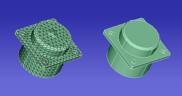 CAD to FE comparison