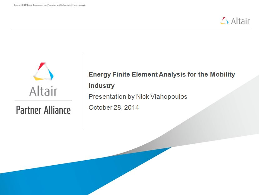 Energy Finite Element Analysis for the Mobility Industry