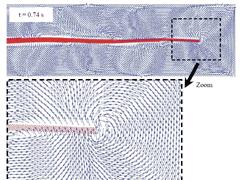 [AOP]山梨大学 - 弾性平板型水中推進機構の解析におけるSPH法の有効性検証