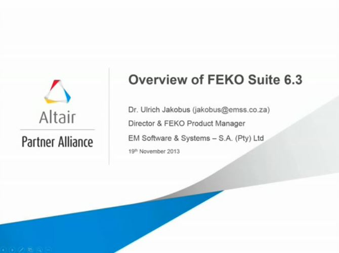 Overview of FEKO Suite 6.3