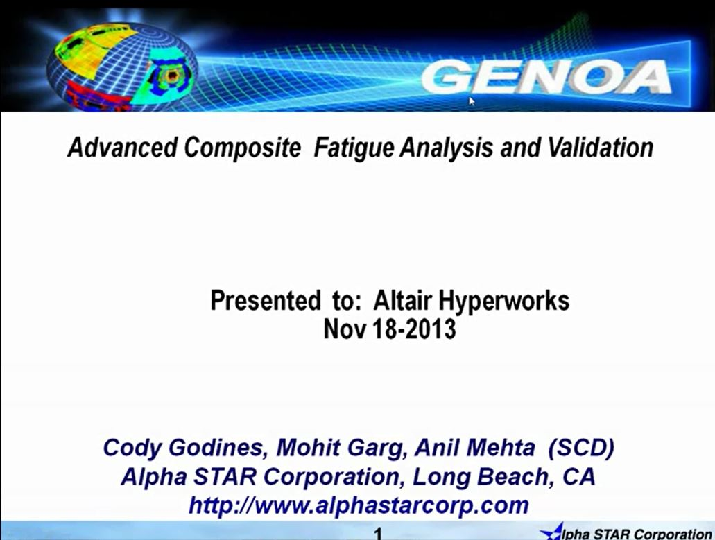 Multi-Scale Progressive Fatigue/Failure Analysis Using GENOA