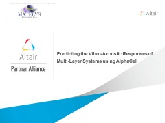 Predicting the Vibro-Acoustic Responses of Multi-Layer Systems using AlphaCell