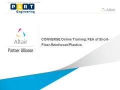 CONVERSE Online Training: FEA of Short-Fiber-Reinforced Plastics