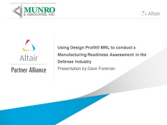 Using Design Profit® MRL to conduct a Manufacturing Readiness Assessment in the Defense Industry