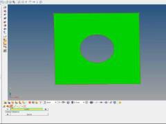 HyperMesh基本操作動画 #03 穴の中心点を作成(サーフェス形状)