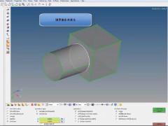 HyperMesh基本操作動画 #08 異なるメッシュサイズで境界面共有化