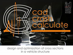 Crash Cad Calculate for design and optimization of cross sections in a vehicle structure