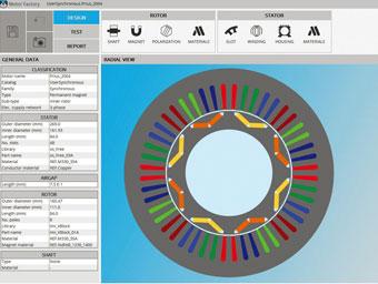 電気モーターの事前設計用ソフトウェア FluxMotor™