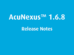 Release Notes: AcuNexus 1.6.8