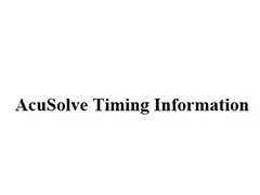 AcuSolve Timing Information