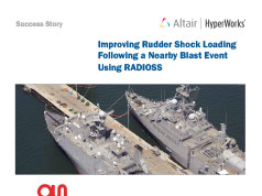 Improving Rudder Shock Loading Following a Nearby Blast Event Using RADIOSS