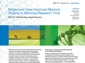 Biogemma Uses Improved Memory Sharing to Minimize Research Time