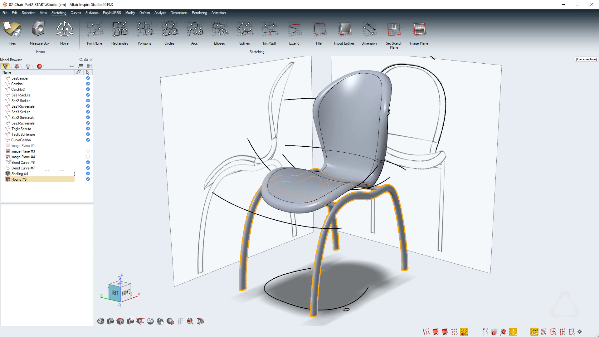 Use Freehand Sketches to Design a Chair with Inspire Studio