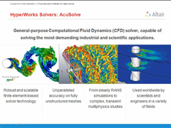 CFD Webinar Series Part 1 - Unstructured Meshing using Altair CFD Solver AcuSolve