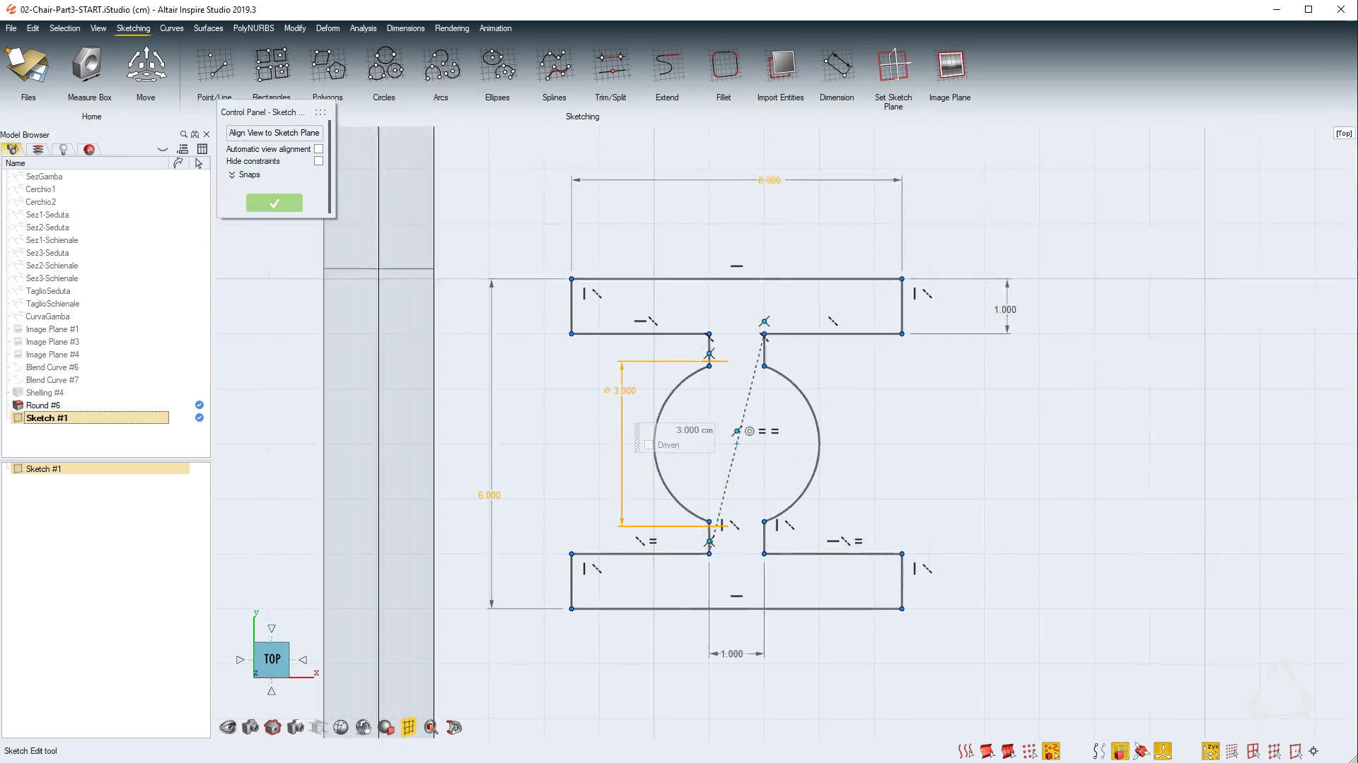 Constraint-based Technical Sketching in Inspire Studio