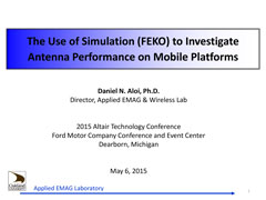 The Use of Suimulation (FEKO) to Investigate Antenna Performance on Mobile Platforms