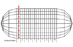 利用能量有限元法,进行外部流体载荷的柱形壳,加载受到轴对称激励的周期环向加筋的高频振动分析