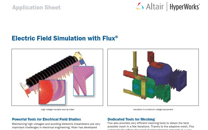 Electric Field Simulation with Flux