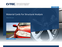 Material Cards for Structural Analysis