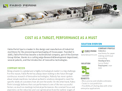 Case Study: Fabio Perini - Cost as a Target, Performance as a Must