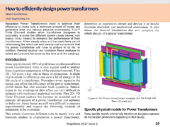 How to Efficiently Design Power Transformers