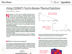 Using CEDRAT's Tool to Review Thermal Solutions