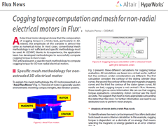 Cogging Torque Computation and Mesh for Non-radial Electrical Motors in Flux®