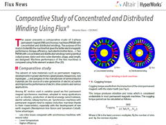 Comparative Study of Concentrated and Distributed Winding Using Flux®