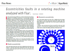 Eccentricities Faults in a Rotating Machine Analyzed with Flux®