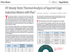 FE Steady State Thermal Analysis of Squirrel Cage Induction Motors with Flux®