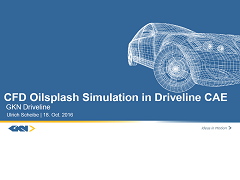 CFD Oilsplash Simulation in Driveline CAE