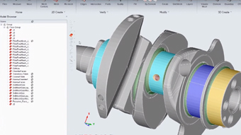 Motorcycle Crankshaft Modeling with SimLab at BMW Motorrad