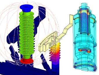 Modelling Insulating Parts in MV HV Equipment with Flux