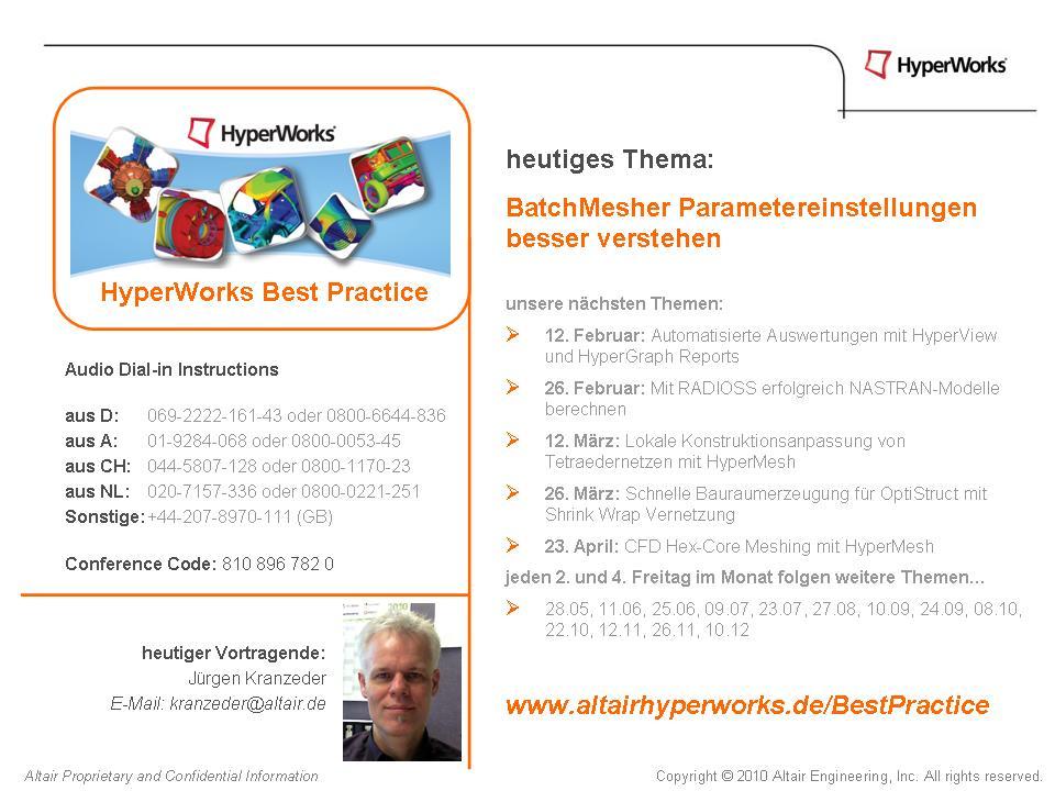 HW BestPractice Webinare: BatchMesher Parametereinstellungen besser verstehen