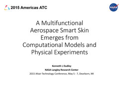 A Multifunctional Aerospace Smart Skin Emerges from Computational Models and Physical Experiments