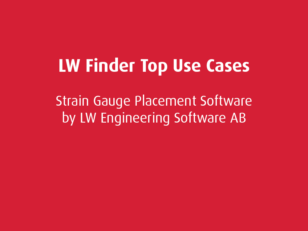 Top Use Cases: LW Finder